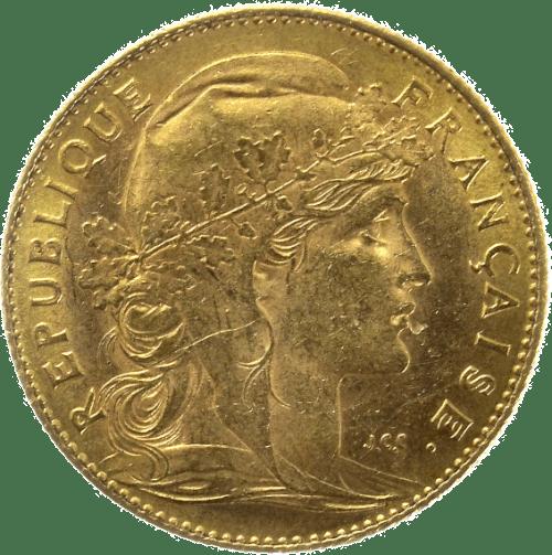 photo cotation piece de 10 francs en or