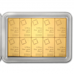 Prix Plaquette Or 10 x 1 gramme (10g) avers