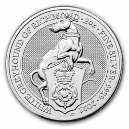 Prix Queen s beasts White Greyhound (Grande Bretagne) 2 onces (2oz) argent avers