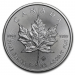 Boîte 500 onces Maple Leaf (Canada) argent revers